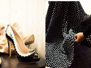 Glamorous black and white shoes and fabric.jpg