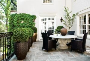 lovely patio area with table chairs and hedging.jpg