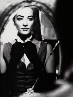 model channelling joan crawford in mirror.jpg