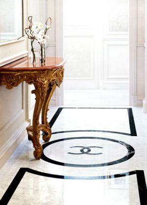Black and white Chanel logo floor.jpg