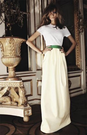 Divine white evening dress with simple ribbon belt.jpg