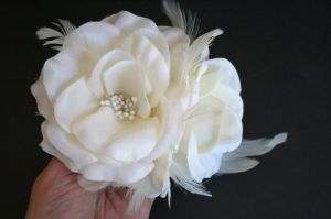 Ivory Bridal Hair Flower Bridal Hair Clip by fanciestrands on Etsy.jpg