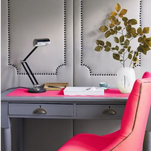 ladylike manners - gray-and-pink-office with pink chair.jpg