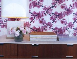Purple blossom wallpaper and lamp.jpg