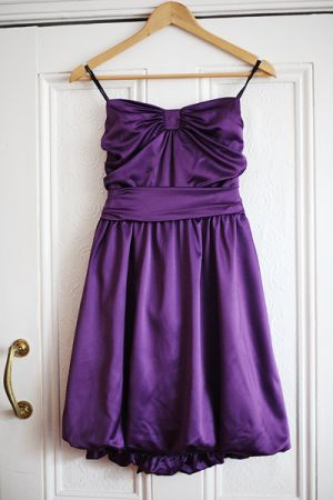 Purple mauve lilac photos - Purple frock hanging from door.jpg