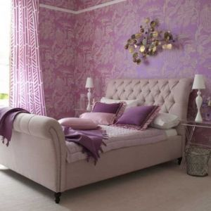 Purple mauve lilac photos - lavender-sleigh-bed.jpg