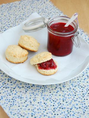 Purple mauve lilac photos - plum jam and scones.jpg