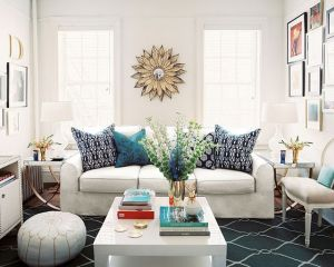 True blue colour photo gallery - Blue Graphic Rug via Lonny Mag.jpg