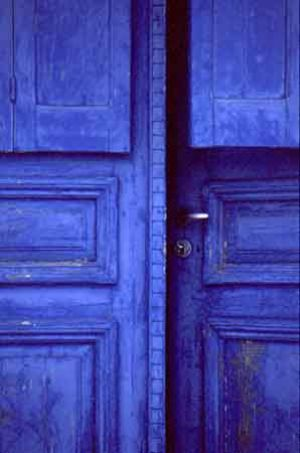 True blue colour photo gallery - Blue door