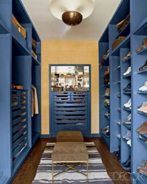 Chicago apartment, interior designer Nate Berkus opts for a sporty blue closet.jpg