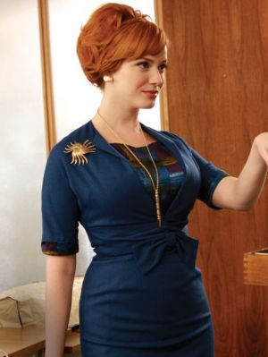 True blue colour photo gallery - Joan_Mad Men - blue-suit.jpg