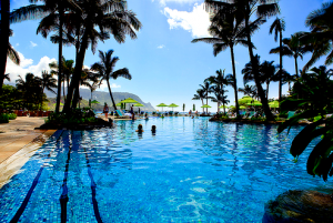 True blue colour photo gallery - beautiful blue pool at resort.png