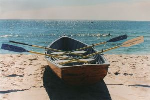 True blue colour photo gallery - blue row_boat on the beach.jpg