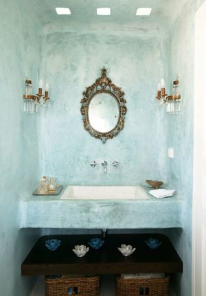 True blue colour photo gallery - blue washed wall bathroom.jpg