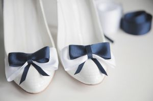 True blue colour photo gallery - white flats with blue bows.jpg