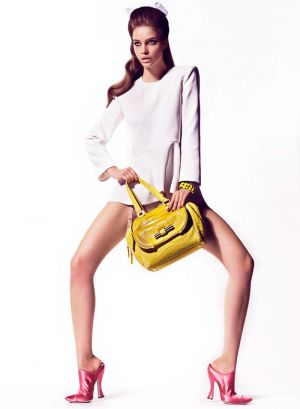 Barbara Palvin by Hunter & Gatti with yellow handbag.jpg