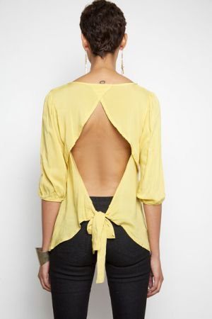 Cheery yellow - Cutout Kamarra Top - Yellow.jpg