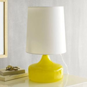 Decorating with yellow - Perch Glass Lamp from West Elm.jpg