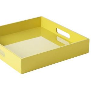 Decorating with yellow - West Elm Square Lacquer Tray in yellow.jpg