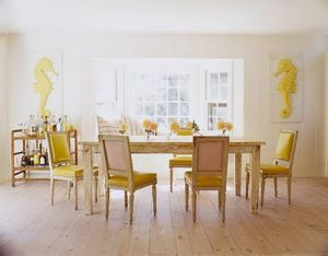 Decorating with yellow - dining area image via House Beautiful.jpg