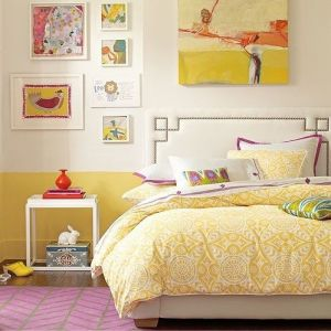 Decorating with yellow - mellow yellow bedroom design.jpg