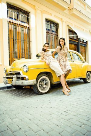 Lena Hoschek - Spring Summer 2010 Collection - vintage yellow car.jpg