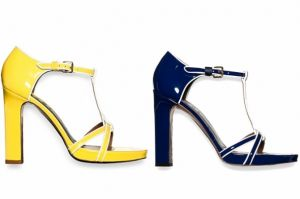 Marni Spring 2012 Shoes - yellow navy shoes.jpg