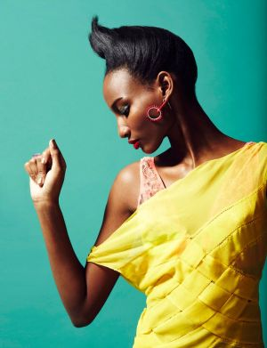 Shena Moulton by Robert Harper for Playing Fashion in yellow dress.jpg
