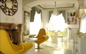 Yellow decor pictures - Byblos Art Hotel Verona Italy yellow chairs.jpg