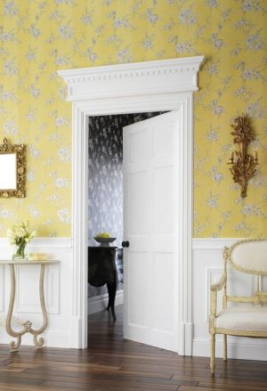 houseandhome.com - Wallpapered Rooms - Yellow walls Chantilly-in-Mimosa.jpg