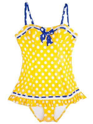 yellow-dotted-retro-swimsuit-Yellow Skirted One-Piece from dianesbeachwear.com.jpg