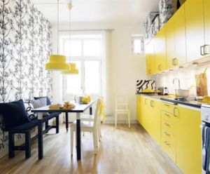 Bright yellow kitchen - Kitchen ideas - myLusciousLife.com