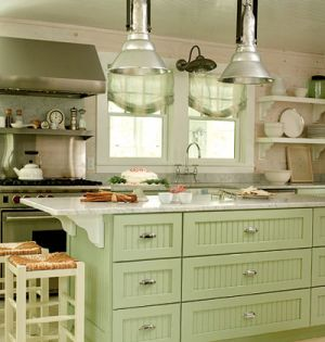 Country sea-green kitchen - mylusciouslife.com.jpg