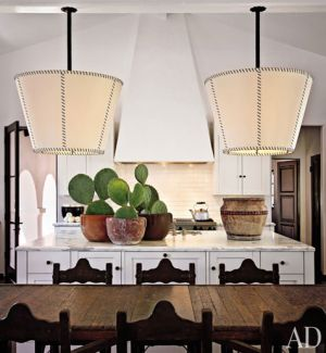 Kitchen family room of actress Diane Keaton in Beverly Hills- Designer Stephen Shadley.jpg