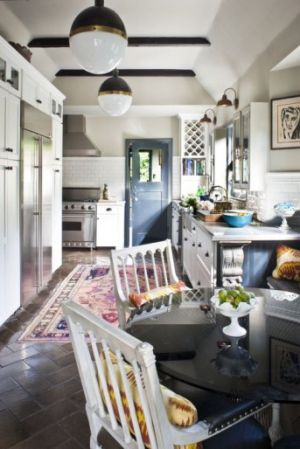 Persian Rug in Kitchen - myLusciousLife.com.jpg