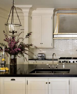 Steel and Brass range hood via interiors digital - myLusciousLife.com.jpg