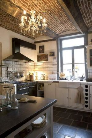 subway tile and brick_kitchen - myLusciousLife.com.jpg