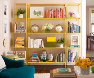 mylusciouslife.com -shelving unit with books, ornaments.jpg