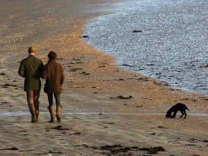 Kate and William walk on the beach with Lupo3.jpg