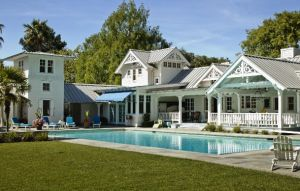 Luxury houses with pools and tennis courts - Atherton Poolhouse-luxury living pool and gardens.jpg