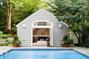 Pictures of poolhouses - design your own pool house via myLusciousLife.com.jpg
