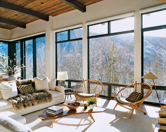 Famous folk at home at home with aerin lauder in aspen for Celebrity homes in aspen