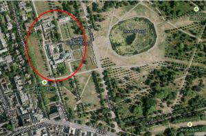 Map of Kensington Palace - home to British royalty.JPG