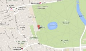 Map of Kensington Palace - home to Prince William and Kate Middleton.JPG
