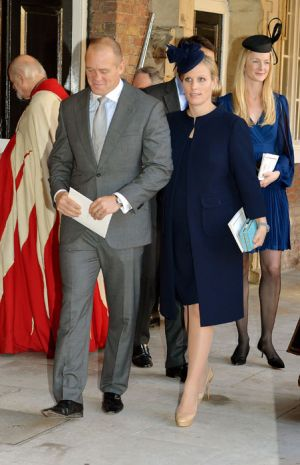 Godmother and royal cousin pregnant Zara Phillips with her husband Mike Tindall.jpg