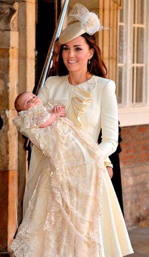 Kate Middleton in Alexander McQueen - Prince George christening ceremony photo - October 2013.jpg