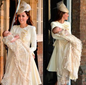 Kate Middleton wearing an ivory cream Alexander McQueen outfit for the christening.jpg