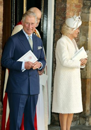 Prince Charles and Camilla at Prince George christening - October 2013.jpg