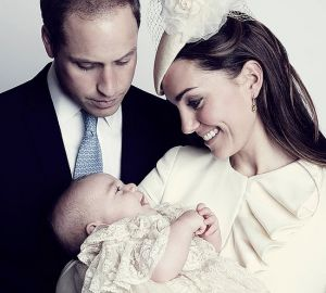 Prince George grins at Kate Middleton in a new christening portrait.jpg