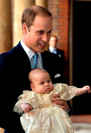 Prince William at Georges christening ceremony photo - October 2013.jpg
